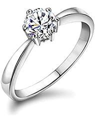 Yoursfs 18k Argent plaqué Solitaire en 1.5 CT Diamant de simulation de Bague de mariage pour Femme ou Homme
