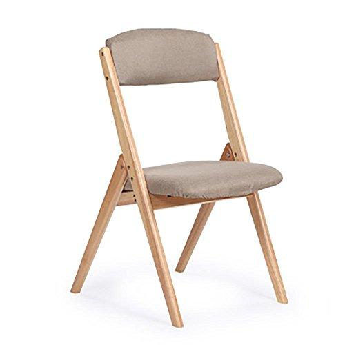 KSUNGB Klappbarer Stuhl aus Holz Faltbarer Stuhl Arc Design Essensstuhl Freizeit Balkonstühle...