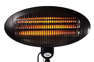 SUNTEC Quarz-Heizstrahler Night Sun [Für Räume bis 60 m³ (~25 m²), Indoor & Outdoor geeignet, 3 Heizstufen, Höhenverstellbar, 2000 Watt] von Suntec Wellness bei Heizstrahler Onlineshop