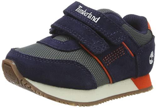 Timberland Unisex-Kinder City Scamper Oxford Sneaker, Blau (Navy Suede), 21 EU