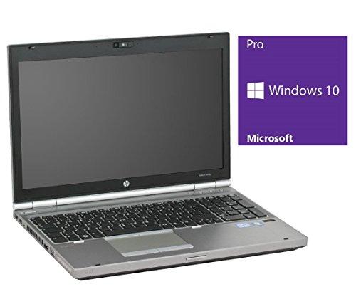 HP Elitebook 8560p Notebook | 15.6 Zoll Display | Intel Core i5-2540M @ 2,6 GHz - 8GB DDR3 RAM | 240GB SSD | DVD-Brenner | Windows 10 Pro vorinstalliert (Zertifiziert und Generalüberholt)