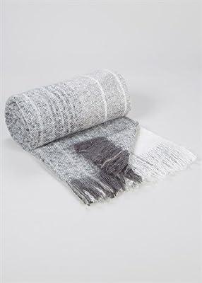 Pendientes de lujo Manta de mohair rayas sintética (130x 150cm)