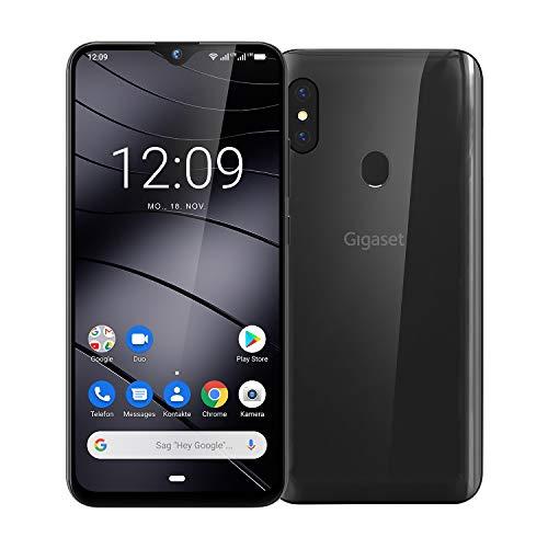 Gigaset GS290 Business Smartphone (ohne Vertrag mit Clearcover zum Schutz - 6,3 cm (6,3 Zoll) V-Notch Display, 4GB RAM, 64GB Speicher, Android 9.0 Pie) titanium grey