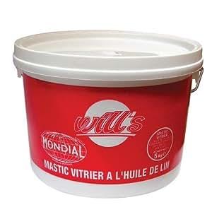 Mastic vitrier à l'huile de Lin 10 Kg