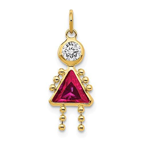 Jewels By Lux 14K Juli Geburtsstein Mädchen Charme