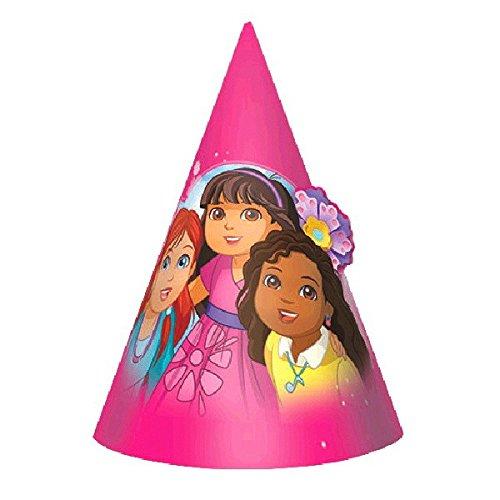 nds Geburtstag Party Hüte (8Stück), Pink, 15,2cm (Dora Party Supplies)