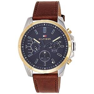 Tommy Hilfiger Reloj Multiesfera para Hombre de Cuarzo con Correa en Cuero 1791561