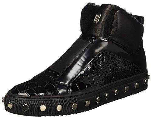 Bikkembergs Doll-Er Db 796 Mid Shoe W Leather, Baskets Hautes Femme Noir - Nero (Black (Croco Print))