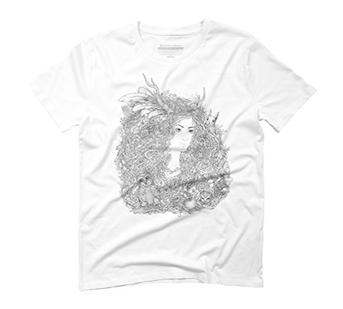 Forest Beauty. A Fairy Tale Men's X-Large White Graphic T-Shirt - Design By Humans