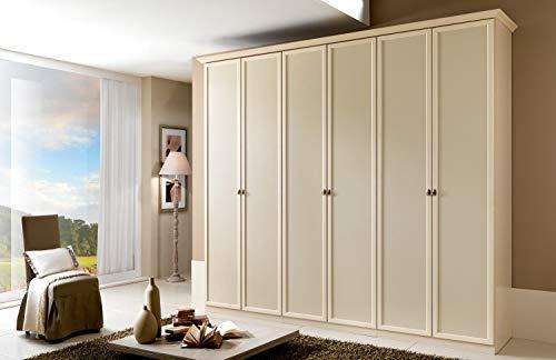 Zucca mobili armadio classico 6 ante h.248 patinato beige