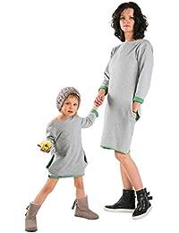 Madre e Hija Vestido casual suelto cómodo de color sólido,Longra ❤ 2017 Vestido