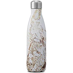 S'well Vacuum Insulated Stainless Steel Water Bottle, 500ml, Calacatta Gold