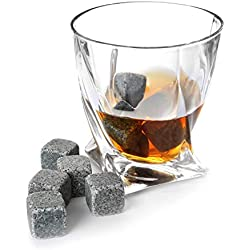 TRIXES Ensemble de 9pcs de Pierres de Whisky Ice Cubes
