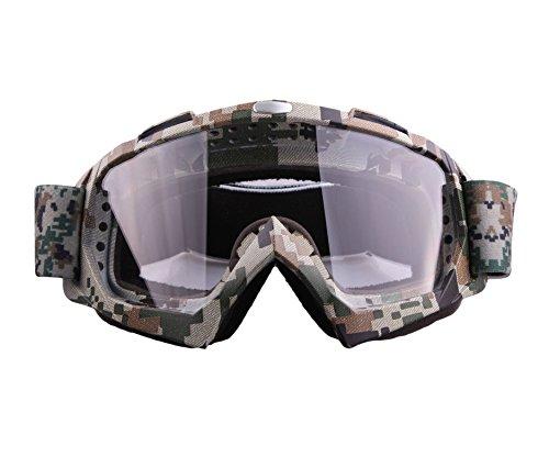 JOLIN winddicht staubdicht Anti-Fog-kratzfeste mehrfach beschichtetes Objektiv Optik Snowboard Brille Schutzschutzbrille , Tarnung, klare Linse