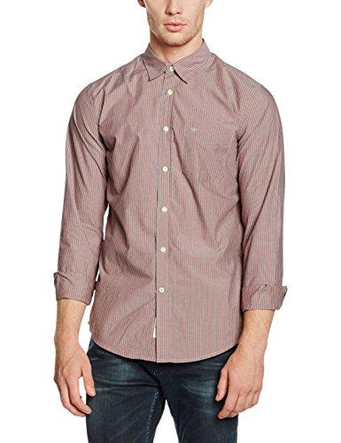 Dockers Herren Laundered Poplin Shirt Freizeithemd, Mehrfarbig (Rocco Rio RED 0090), Small -