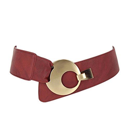 Fashiongen - Cinturón ancho mujer VANESSA - Burdeos