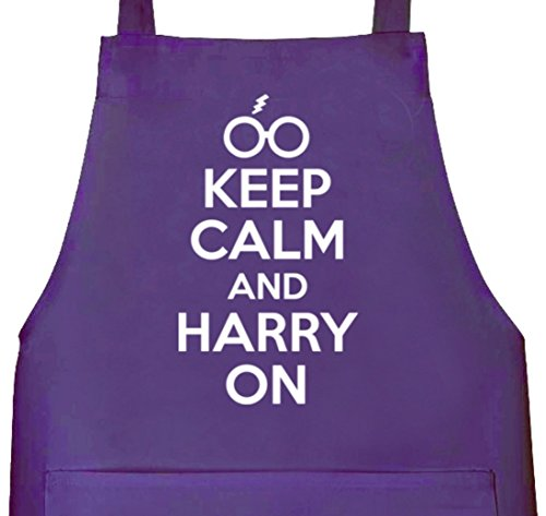 Funny BBQ Apron Novelty Aprons Cooking Gifts for Men Keep Calm And Grill On Black One Size