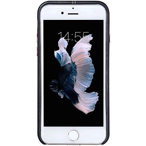 Meimeiwu Alta Qualità Englon Custodia in pelle Cover Custodia Cover Per iPhone 7 Plus - Rosso Nero
