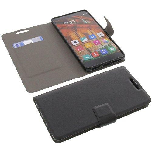 foto-kontor Tasche für Elephone P9000 Lite Book Style Ultra-dünn Schutz Hülle Buch Schwarz