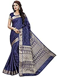 Vatsla Enterprise Women's Silk Saree (VTSLF010NEVYBLUE50_BLUE)