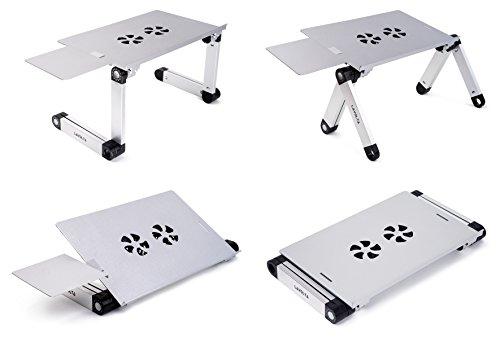 Lavolta Notebook Stnder zusammenklappbar mit Ablage fr die Maus Khler 2 Lfter Aluminiumlegierung Winkel der Beine kann verstellt werden silber Khlpads