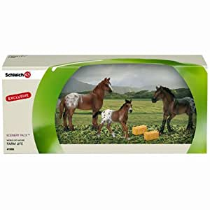 Schleich Chevaux: 41358 Scenery chevaux avec accessoires