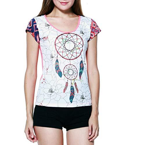 PANASIAM-Camiseta, Dream Catcher', de Toda Fina freshrunk algodón, en S, M y L, Vintage Style. Weiß 42