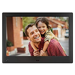 NIX Advance Digital Photo Frame 10 inch X10H. Electronic Photo Frame USB SD/SDHC. Clock and Calendar Function. Digital Picture Frame with Motion Sensor. Remote Control and 8GB USB Stick Included