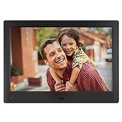 Idea Regalo - NIX Advance – Cornice digitale da 10 pollici ad alta risoluzione, l'unica che riproduce un mix di foto e video HD nella stessa slideshow. Dotata di sensore di movimento HU-Motion. Nero. X10H