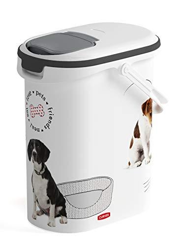 Curver Futterbehälter für Hunde, 4 kg, Weiß/Weiß