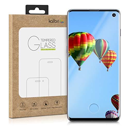 kalibri Samsung Galaxy S10 Folie - 3D Glas Handy Schutzfolie für Samsung Galaxy S10 - Auch für gewölbtes Display