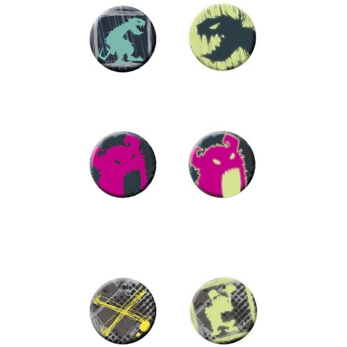ow-in-the-dark Buttons The Monsterbox ()