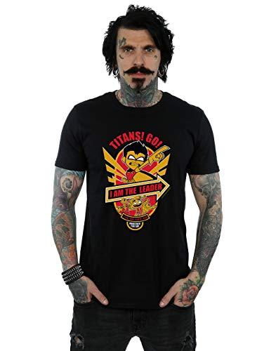 DC Comics Herren Teen Titans Go I Am The Leader T-Shirt Schwarz Large