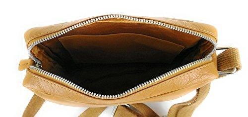 Zerimar Borsa a Tracolla in Pelle Più compartimenti Portafoglio Uomo Portafoglio Donna Colore: Nero Misure: 24x22x5 cm tan