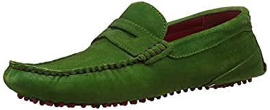 BATA Men's Nial Green Leather Loafers and Mocassins - 10 UK/India (44 EU) (8537119)