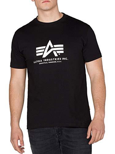 Alpha Industries Brand Logo Basic T-Shirt Freizeit Sport Militär T-Shirt XXL Schwarz