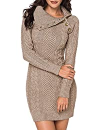 4f6aa2a79 Amazon.fr : Robes Pull Hiver - Robes / Femme : Vêtements