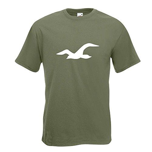 KIWISTAR - Möwe T-Shirt in 15 verschiedenen Farben - Herren Funshirt bedruckt Design Sprüche Spruch Motive Oberteil Baumwolle Print Größe S M L XL XXL Olive