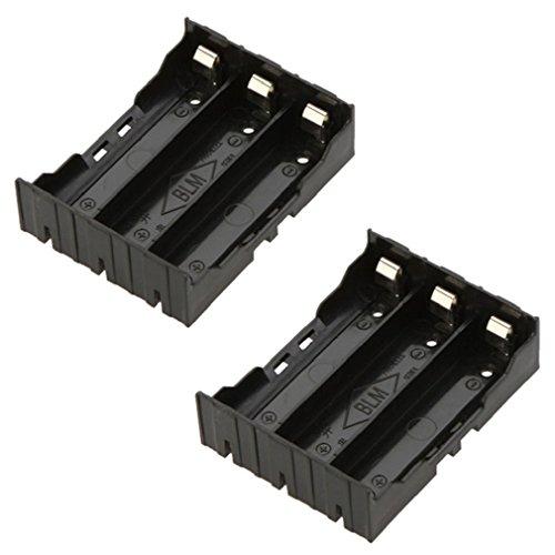 Preisvergleich Produktbild Tonsee 1pcs DIY schwarze Box Halter Aufbewahrungstasche für 3 x 18650 3.7V wiederaufladbare Batterien