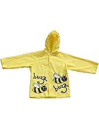 Children's Bumble Bee Design Waterproof Raincoat with Elasticated Hood.
