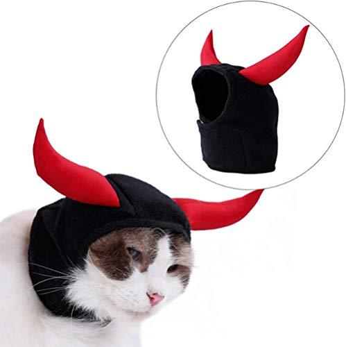 Cat Hat Devil Horns Kostüm Halloween Verstellbare Kopf Bestellbar Kostüme Für Katze Und Kleine Hunderot