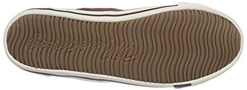 Mustang 1099-302-55, Chaussons Sneaker Femme Rouge (55 Bordeaux)