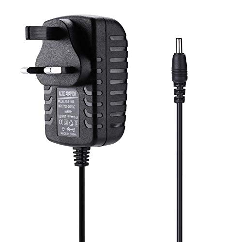 REYTID Replacement Charger Compatible with Amazon Echo Spot and Echo Dot - 1.8m - Alexa Speaker Mains Plug Power Lead - Black