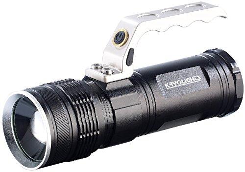 KryoLights Handscheinwerfer: LED-Akku-Taschenlampe TRC-180.3a mit Zoom, 1000 lm, 10 Watt, IP65 (Handlampen)