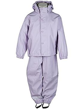mikk-line Mädchen Jacke Pu Rainwear-Set Regenhose und Regenjacke Wassersäule 8000