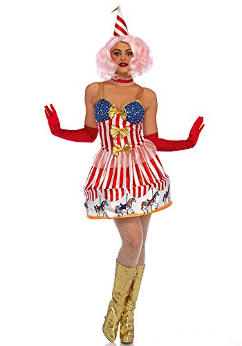 Leg Avenue LO85636 Carousel Clown Kostüm, Vielfarbig, Small (EUR 36)