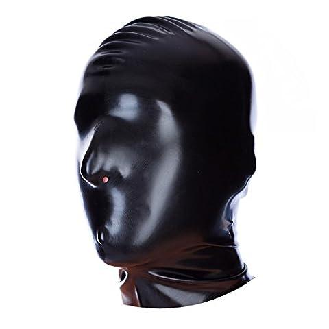 EXLATEX Latex Rubber Fetish Accessories Masque de capot avec trous de narine