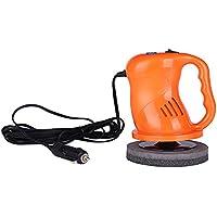 Pulidora y Pulidora de Amortiguación de Automóviles Máquina Portátil Automóvil Waxer Eléctrico Sander Buffer Machine Kit Set Plush Cover + Towel Nap (Naranja)