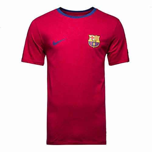 Nike 2018-2019 Barcelona Core Crest Tee (Red) 4d640aa0965