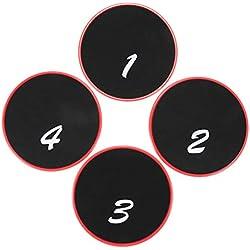 Moligh doll 4 Piezas Discos De Deslizamiento De Fitness Deslizador De Gimnasio Disco De Fitnees Deslizador De Nucleo De Ejercicio Disco De Deslizamiento De Entrenamiento Cruzado Equipo